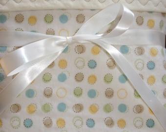 Flannel Baby Blanket - Large Receiving Blankets - Baby Boy Blanket - Gender Neutral - Cot Blanket - Toddler Blanket - Polka Dot Baby Blanket