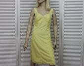 Vintage Yellow Full Slip Size 34 Denmark