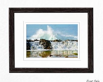 Wave Photography Home Decor Seascape Photography Wall Art Print Ocean Photography Beach Photography Greeting Card Coastal Decor Beach Decor