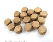 Natural Wood Beads. 12mm x 10mm Oval Beads. Rustic Wooden Beads. Flat Chunky Elongated Beads. Boho Bohemian Beads - 16 Pieces