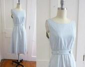70s Stripe Wrap Dress with Jacket - Blue and White Pin Stripes - Lanz - Pinstripe - Nautical - Sun Dress - Summer Dress