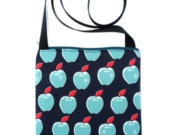 SALE! Apples, Zipster, cross body bag, flat bag