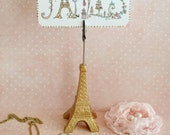 Collection of Beautiful French Paris and Handmade Treasures / Heart Ornament / Eiffel Tower / Locket / Porcelain Button
