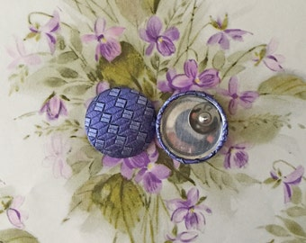 Fabric Covered Button Earrings / Purple / LIMITED SUPPLY / Wholesale Jewelry / Geometric / Hypoallergenic Studs for Sensitive Ears / Gifts