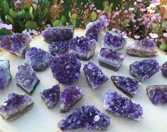 Raw Amethyst Crystals, Amethyst stones, Healing Crystals, Meditation,  Gemstone Home Decor,  Crystal Quartz, Quartz Cluster, Crystal Grid