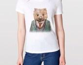 Wombat T-shirt, Animal Tshirt, Womens