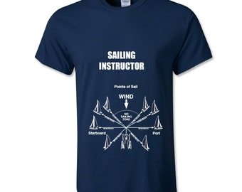 Sailing instructor t-shirt, sailor gift shirt, nautical shirt, present for him, dad gift