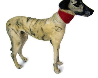 Needle felted greyhound  pet portrait dog - Wool animal sculpture- eco friendly art-Collectible artist animals