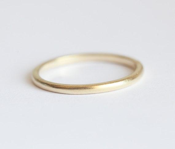 Schlichter goldring  Gold Ring Ehering Eheringe aus Gold schlichter Goldring