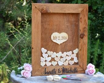 Wedding Guest Book Alternative - Heart Drop Guest Book - Guest Book Drop Box - Guest Book Sign - Guestbook Drop Box - Guest Book Ideas