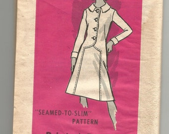 9166 Mail Order Sewing Pattern DRESS 37 Bust Size 14 1/2 Vintage Factory Folded