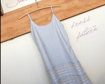 Summer Slip Dress - Easy Sewing Pattern - Ladies Multi-sized Instant Download Digital Pattern