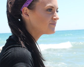 Purple Glitter Headband - Headbands for Girls - Headbands for Women - Sparkly Headband - Gift for Her - Team Headbands