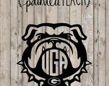 UGA Bulldog Decal