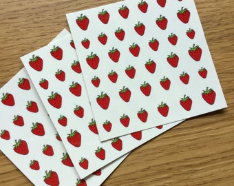 SALE! 36 Red Strawberry Nail Transfers
