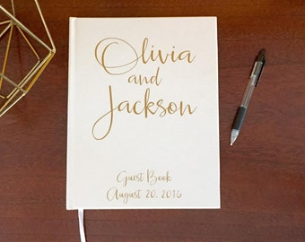 Gold Wedding Guest Book, Custom Wedding Guestbook, Guest Book Wedding, Guest Book, Modern Guest Book, Customized Wedding Book 8x10 5x7