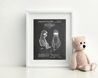 Puppet Patent Poster, Jim Henson Muppet Poster, The Muppets, Muppet Puppet, PP0002