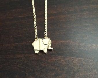 gold elephant necklace, elephant necklace, elephant jewelry, elephant pendant, elephant, gold elephant, gold necklace, jewellery, necklace