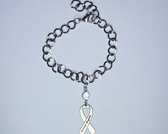 Human Rights Awareness Ribbon Bracelet - Support Human Rights Jewelry