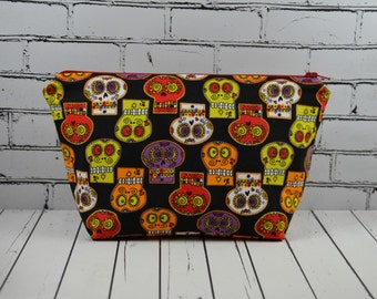 Day of the Dead Make Up Bag, Sugar Skull Makeup Bag