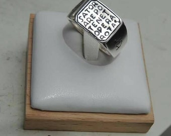Sator Ring with Sundial