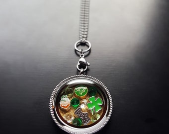 St. Patrick's Day Floating Locket Necklace Set-14 Piece Set-Gift Ideas for Women