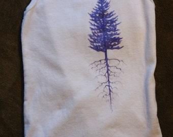 Purple Pine; 12 month onesie
