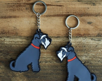 Schnauzer Keyring (choice of colour)