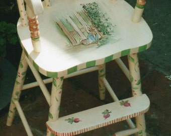 Cherries Youth Chair Hand Painted Furniture Kids Furniture