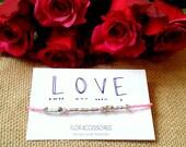Dash dot LOVE bracelet - Morse code bracelet with hidden text Love (available in 18 colours!)