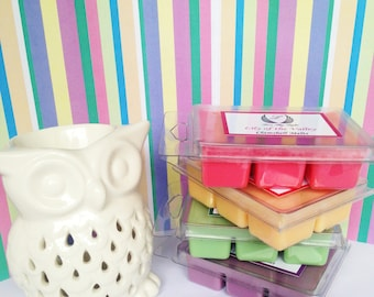 Wax melts, Summer Bouquet scented soy melts, soy wax tarts, soy wax clamshell melts, gift for her, gifts, Pink wax melts
