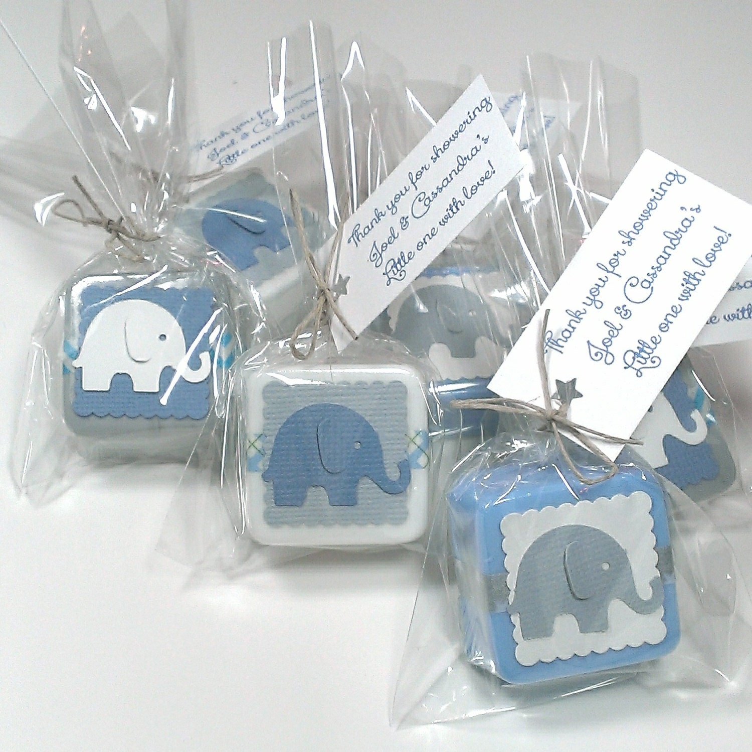 Delightful 24 Baby Shower Favors Elephant Theme Baby Shower Decor Baby Shower Favors  Boy Choose Your Own Color Theme
