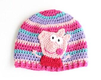 Peppa Pig Inspired Beanie Cap