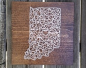 Made to Order String Art State Sign