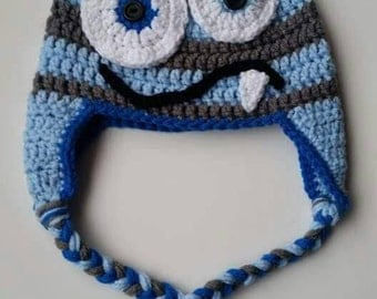 Crochet One Tooth Monster Hat