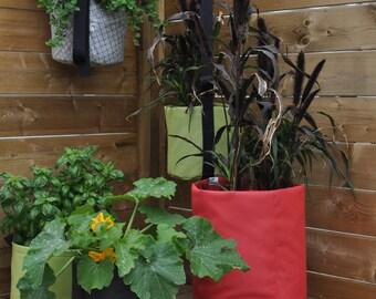 horticultural pots in textile lined horticultural felt