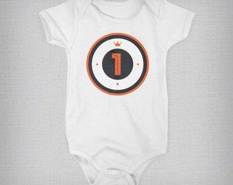 Baby Onesie, One Year Baby Onesie, One Year Outfit, Birthday Baby Onesie, Baby Boy, Baby Girl, Baby Gift, Unique Onesie, Retro Onesie