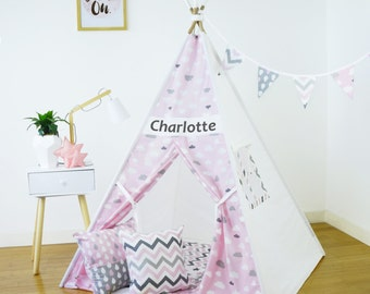 Kids Teepee (Play Tent, Childrens Teepee, Teepee Tent, Kids Tent, Tipi, Playhouse, Play teepee, Childrens Tipi, Wigwam,  Kids Room Decor)