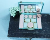 Sirram Beauty Box Womans 1940s Vanity Case Cosmetic Carrier Travel Case Cosmetic Travel Case (0023N)