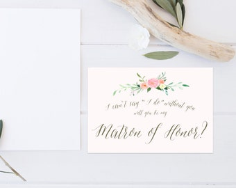 Printable Will You Be My Matron of Honor