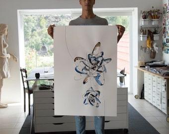 Large abstract art, original Abstract Art - modern, art, wall art, abstract painting, stars, nature, abstract art, large minimalist art, ink