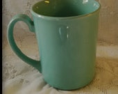 CORNING Teal /Aqua/Pale Green Cafe / Coffee Shop / Diner Coffee Mug - Made in the USA