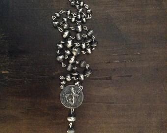 Santo Nino & Navajo Pearl Rosary