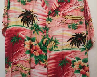 Vintage Hawaiian shirt from 1950-60s made by Pali