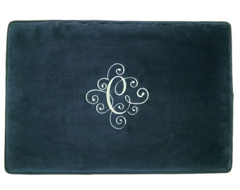 Embroidered Bathroom Rug Kitchen Mat Monogrammed