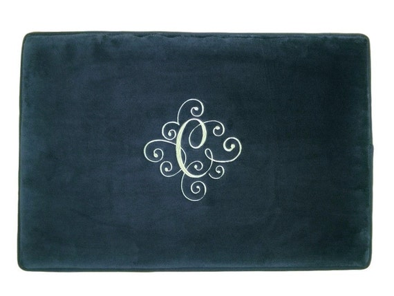 Personalized Mat Bath Rug Bathroom Monogrammed Wedding Gift