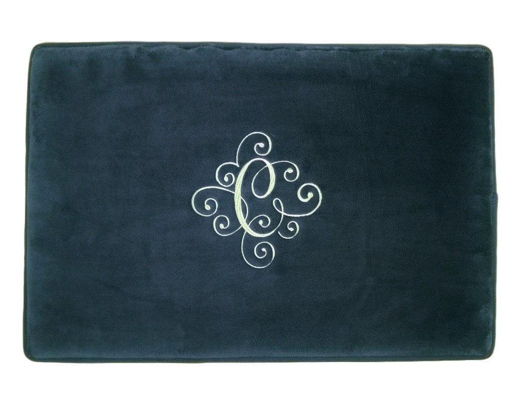 personalized mat bath rug bathroom monogrammed wedding gift