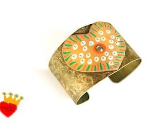 Heart-cuff bracelet,adjustable bracelet,brass bracelet,boho jewelry,wide bracelet,wide gold cuff,statement bracelet,valentines gift