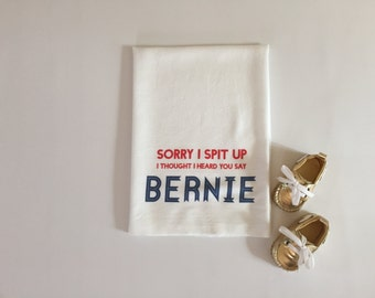 Republican baby gift, 2016 election baby gift burp cloth, Bernie Sanders presidential campaign