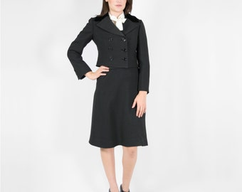Saks Fifth Avenue Black Skirt Suit -Two Piece Skirt Suit